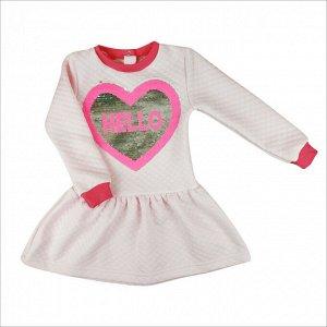 Платье 7117/1 (розовое, нашивка) капитоний