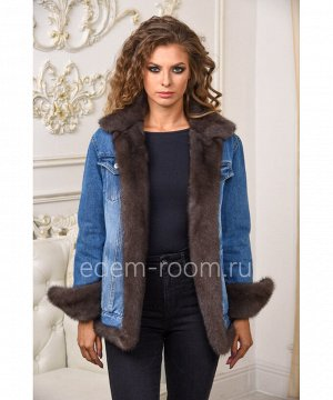 Куртка - джинсовая с мехом Артикул: AL-123-70-SB-N