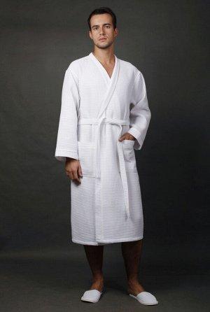 Халат Отельный кимоно вафельный мужской