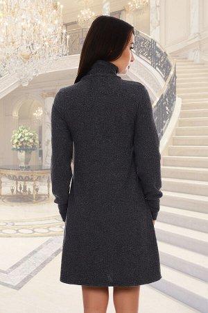 Платье Данный товар можно выбрать по расцветкам: меланж, графит ткань: кашемир состав: 15% вискоза, 80% ПЭ, 5% лайкра Замечательное повседневное платье из кашемира, приятное к телу, не мнется. Платье