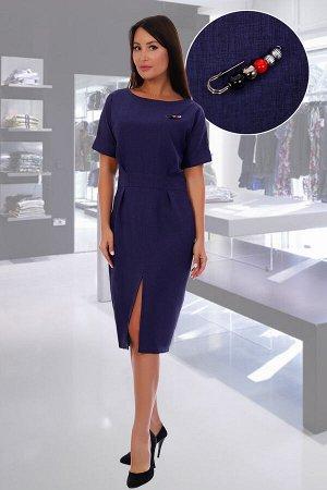 Платье Данный товар в одной расцветке. состав: 100% п/э, ткань: габардин. Строгое, но в тоже время дерзкое, благодаря кокетливому разрезу, платье-футляр, длиной чуть ниже колена, никогда не выйдет из