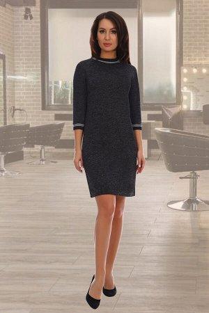 Платье Данный товар в одной расцветке ткань: джерси  , люрекс состав: 85% п/э, 10% вискоза, 5% лайкра; 95% п/э, 5%лайкра Модель выполнена из мягкого приятного телу трикотажа джерси. Платье приталенног