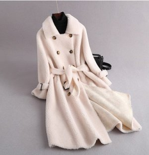 Пальто Пальто, оформленное длинными рукавами, овечья шерсть/полиэстер. Размер (обхват груди, длина рукава, длина изделия, см): S (102,57,98), M (106,58,99), L (110,59,100)