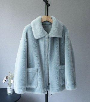 Пальто Пальто, оформленное длинными рукавами, овечья шерсть/полиэстер. Размер (обхват груди, длина изделия, см): S (122,66), M (126,67), L (130,68)