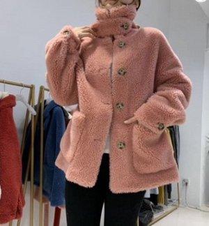 Пальто Пальто, оформленное длинными рукавами, овечья шерсть/полиэстер. Размер: S,M,L