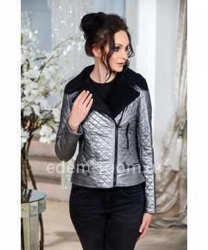 Куртка из эко-кожиАртикул: R-708-60-SR