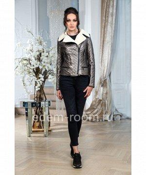 Демисезонная куртка из эко-кожиАртикул: R-708-60-BR