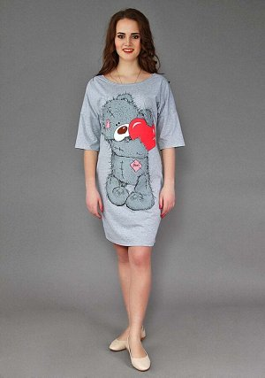 Платье Мишка Тедди с сердцем 3-150