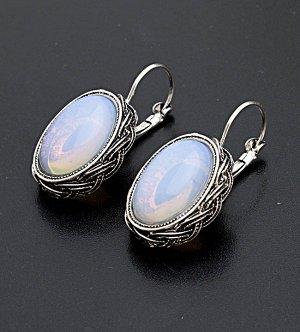 Серьги с лунным камнем. 8851522-4ЛК