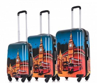 Чемоданы L`case - неубиваемые⚡Есть по 1 штуке!  — Чемоданы с принтом — Дорожные сумки