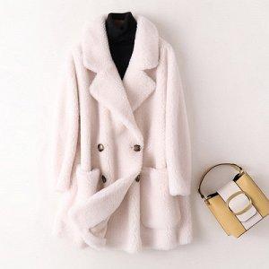 Пальто из натуральной овечьей шерсти
