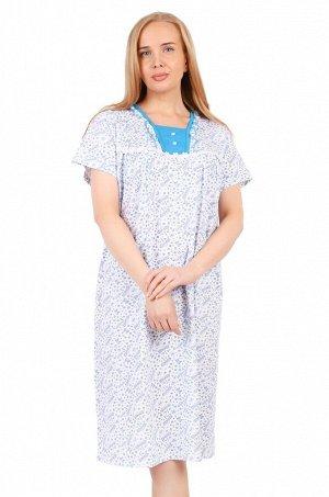 Женская сорочка с коротким рукавом/пуговицы