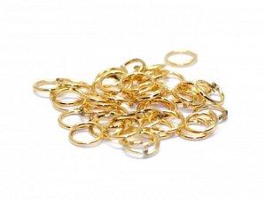 Кольца золотистые. 5 x 0,7 мм. 18 шт.