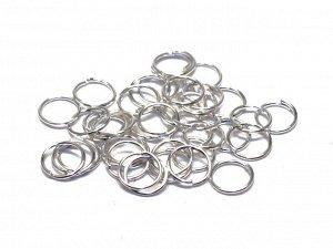 Кольца серебристые. 8 x 0,7 мм. Цена за 20 шт