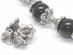 Шапочка Колокольчик серебристая. 10 мм