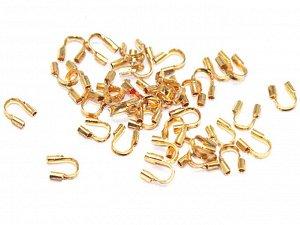Петли от перетирания нити золотистые. 5 мм. 10 шт.