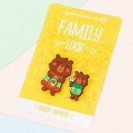 Набор значков для мамы и ребенка «Медведи» 8 х 12 см