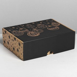 Коробка складная Happy New Year, 30,7 х 22 х 9,5 см