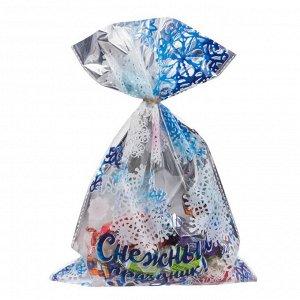 Пакет пластиковый «Снежный праздник!», 20 ? 30 см