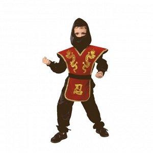 Карнавальный костюм «Ниндзя», текстиль, размер 28, рост 110 см, цвет красный