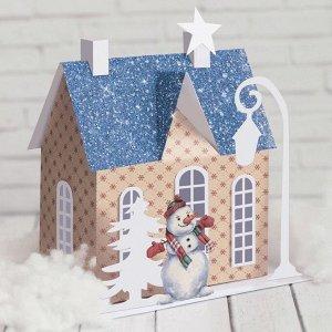 Домик новогодний «Рождественская сказка», набор для создания, 29.5 ? 29.5 см