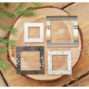 Рамочки декоративные для скрапбукинга с фольгированием «Сияние ночи», 8 ? 11 см