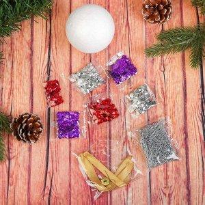 Новогодний ёлочный шар с пайетками №1