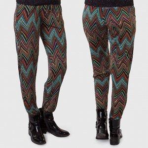 Casual-шик от Luca Tonolli. Стильные женские брюки со свободными бедрами. Идеально сядут даже на неидеальную фигуру №1029 ОСТАТК