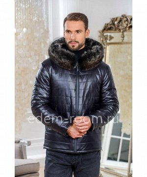 Зимняя мужская куртка с меховым капюшономАртикул: C-819-2-70-SN-EN