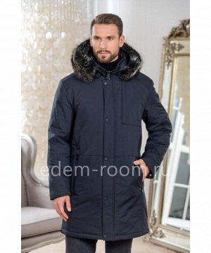 Мужская куртка - парка с меховым капюшономАртикул: C-19D24-2-85-SN-EN