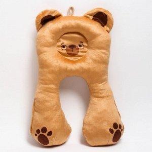 Подушка дорожная детская «Медвежонок» ортопедическая, цвет бежевый