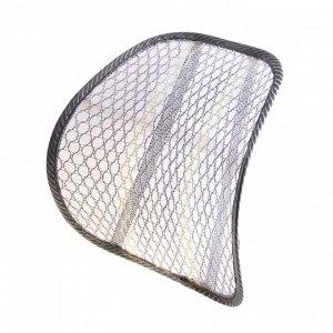 Ортопедическая спинка на сиденье упругая на сиденье 38х39 см, серый