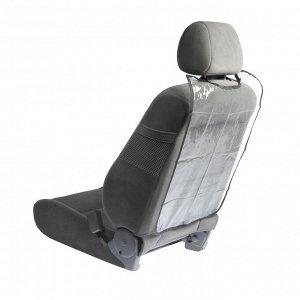Накидка-незапинайка на спинку сиденья TORSO, 58х42 см, черная окантовка, прозрачная