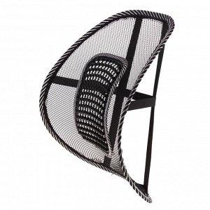 Ортопедическая спинка-подушка с вертикальным массажером на сиденье 38*39 см