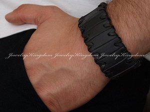 """Арт # 2172 Браслет """"JEWELRY KINGDOM""""  Натуральная кожа. Длина :20 см - 21.5 см. Ширина : 38 мм.   Антиаллергичные материалы.  !"""