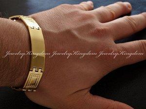 """Арт # 1804 Браслет""""JEWELRY KINGDOM"""" Металлический с золотым напылением 14К по технологииIPG Длина : 21.5 см Антиаллергичные материалы.  !"""