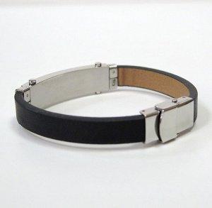 Арт # 8984 Мужской браслет Сталь 316L +кожа Длина : 21,5 см Ширина :10 мм Производство: Польша Антиаллергичные материалы.