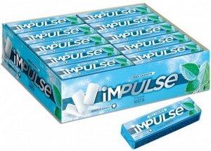 «Impulse», жевательная резинка со вкусом «Мята», без сахара, 14 г