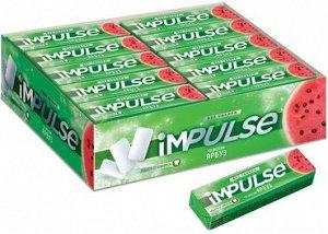 «Impulse», жевательная резинка со вкусом «Арбуз», без сахара, 14 г