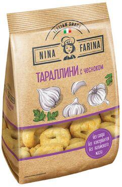 «Nina Farina», тараллини с чесноком, 180г