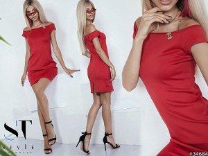 Силуэтное платье 34684