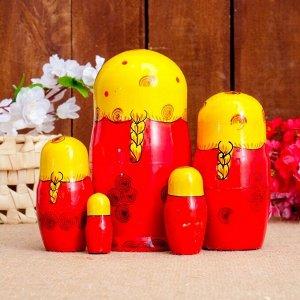 Матрёшка «Сударушка», жёлтый платок, 5  кукольная, 17 см