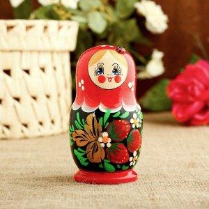 Матрёшка «Божья коровка», красное платье, 5 кукольная, 10 см