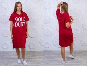"""Туника Женская 2502 """"Gold Dust"""" Бордовая"""