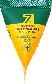 May Island 7 Days Secret Pore Clear Powder Scrub - Скраб для глубокого очищения пор с экстрактом алоэ, центеллой 5г ( 1 шт)