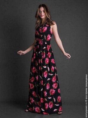 Платье Восхитительное платье с уникальными принтами из плотного шёлка армани нового поколения. Платье отлично подходит как для жаркой летней погоды, так и для романтического вечера. Кулиска позволяет