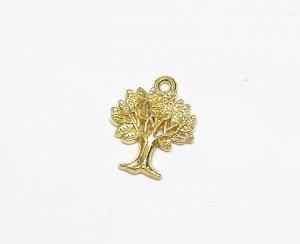 Подвеска Дерево 1,7х2 см. Цвет: Золота. Цена за 1 шт.