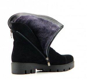 Ботинки натуральная замша черный