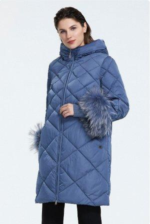 Пуховик женский зимний, цвет синий
