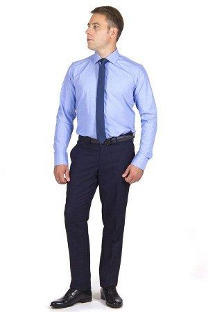 Брюки Сезон: демисезонные. Модель: casual со стрелками. Цвет: синий. Комплектация: брюки, вешалка. Состав: шерсть-40%, вискоза-35%, полиэстер-25%. Бренд: Svyatnyh. Фактура: узор. Посадка: узкие. Высот